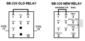 VA7ST SB221 relay pinout